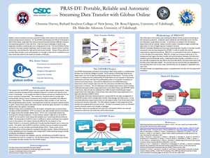 PRAS-DT: Portable, Reliable and Automatic Streaming Data Transfer with Globus Online Christine Harvey, 2012
